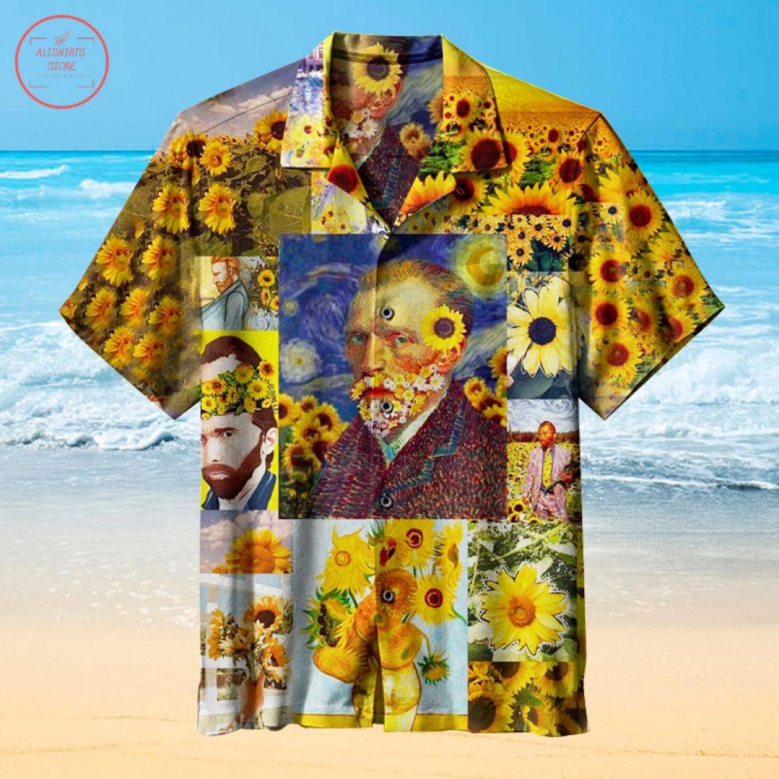 Van Gogh Sunflower Hawaiian Shirts