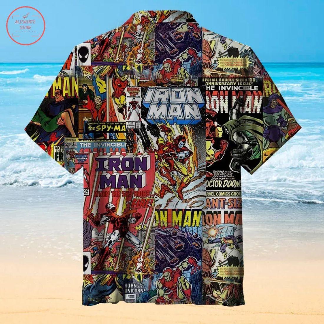 Vintage Comics Iron Man Hawaiian Shirt