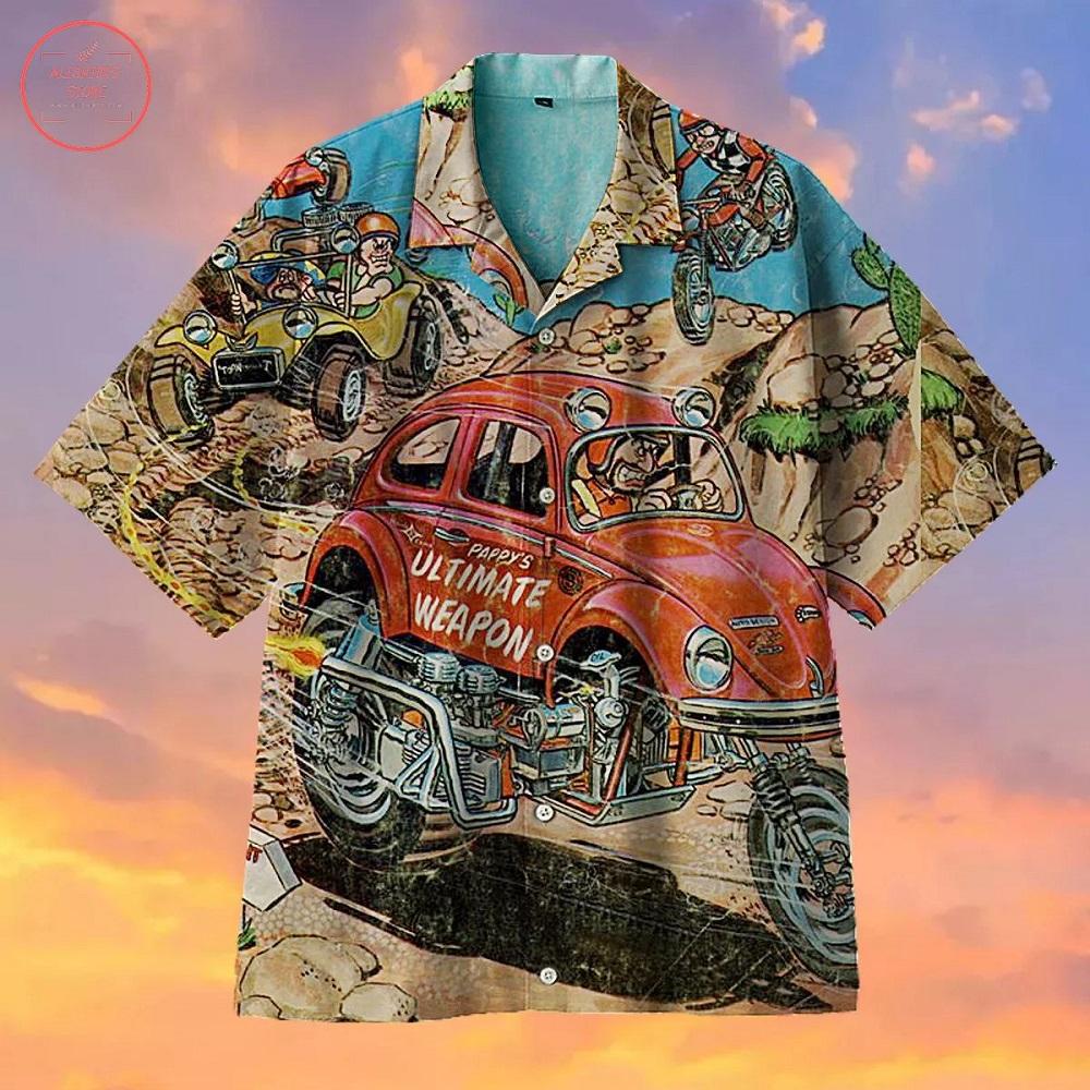 Vintage Hot Rod Cartoons Hawaiian Shirt