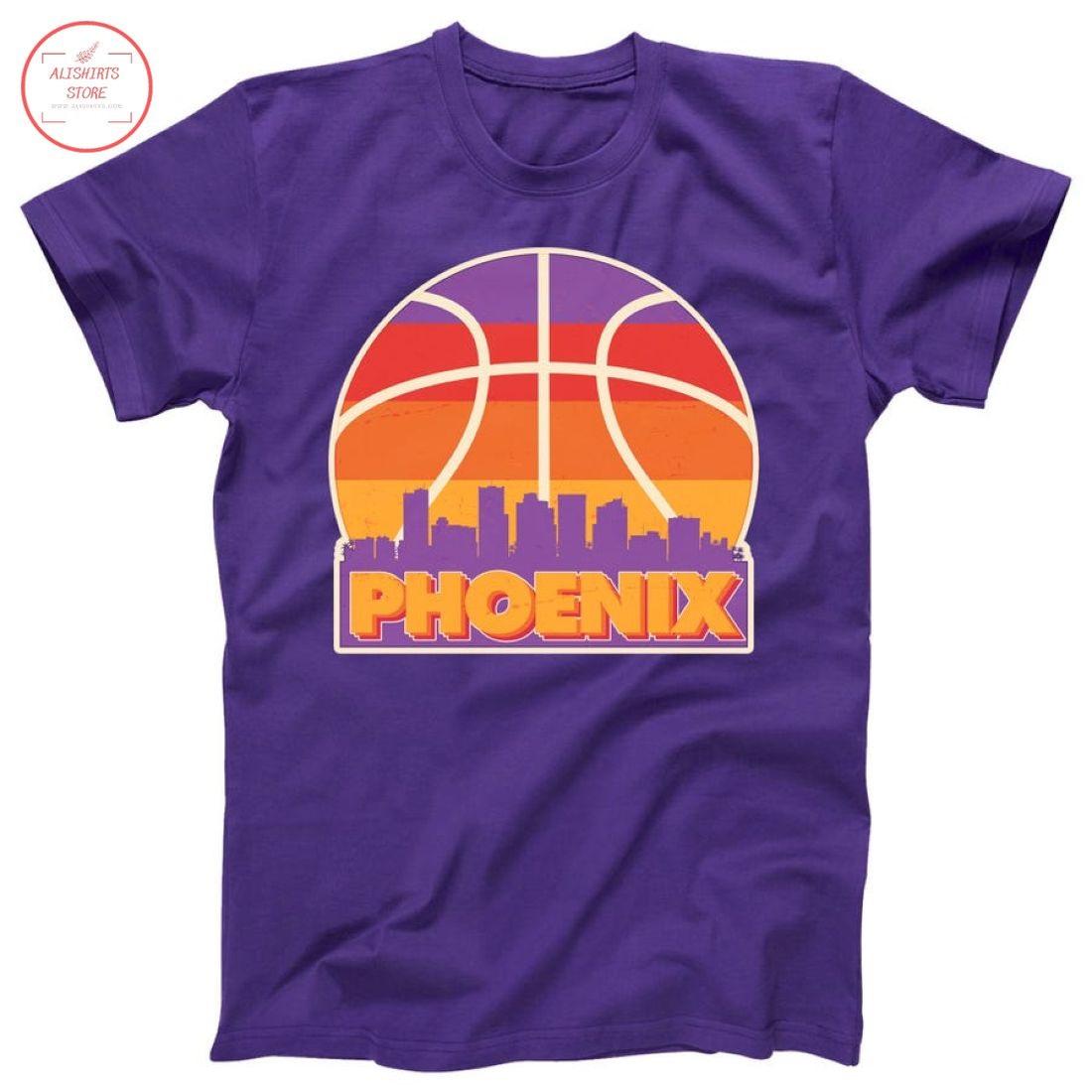 Vintage Phoenix Basketball Skyline Logo Shirt