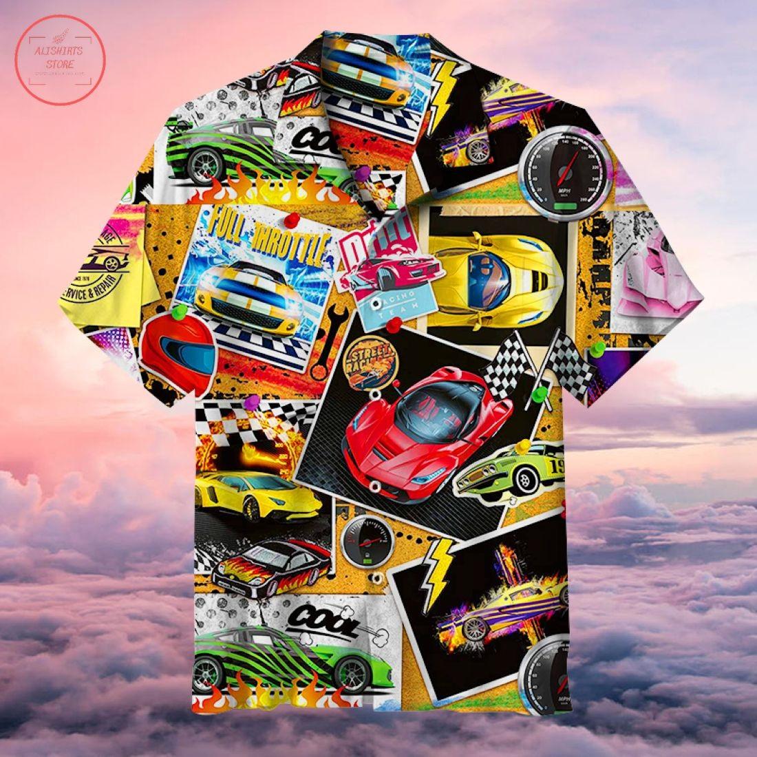 Vintage Racing Car Hawaiian Shirt