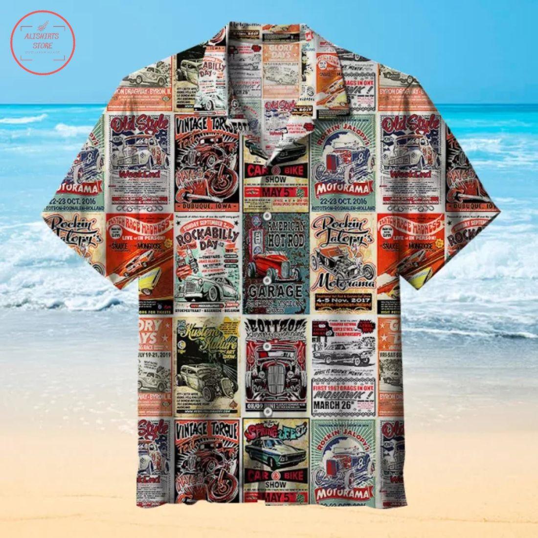 Vintage Rodding Hawaiian Shirt