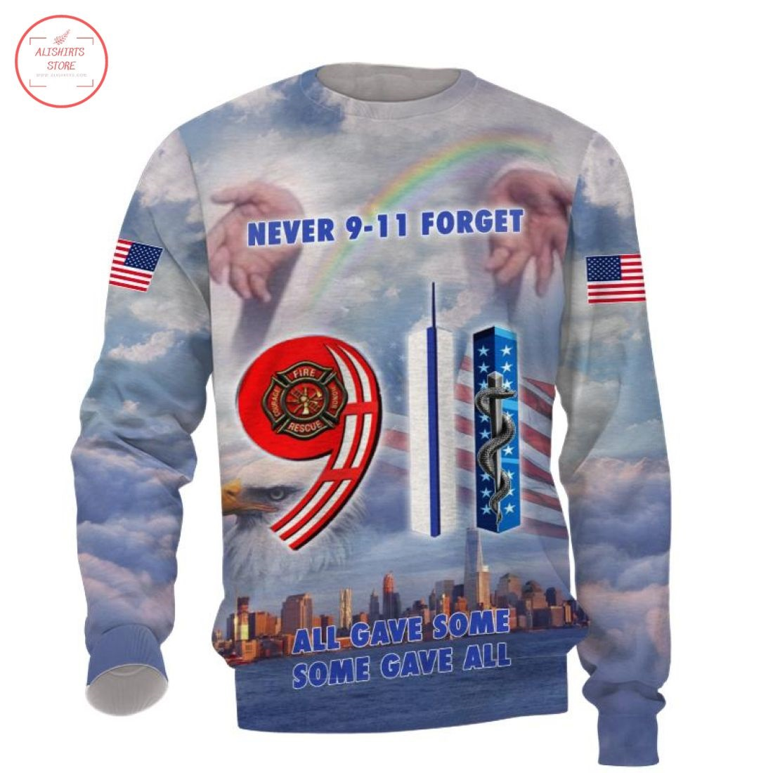 We will never forget 9-11Shirts 3D Full Printing