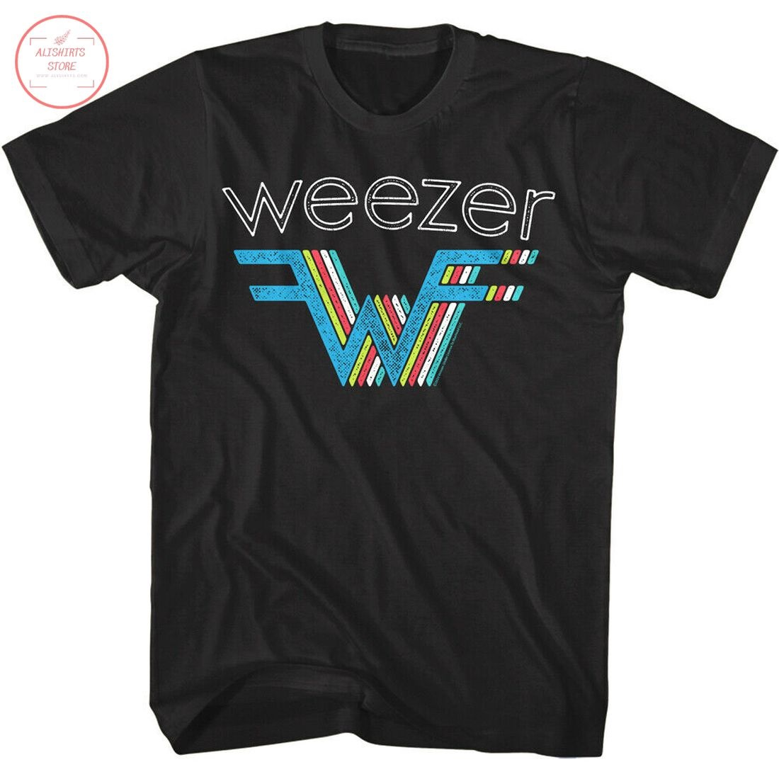 Weezer 3D Rainbow Logo Shirt