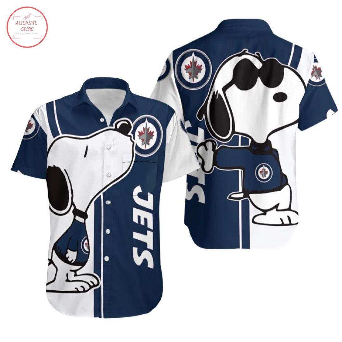 Winnipeg Jets Snoopy Hawaiian shirt