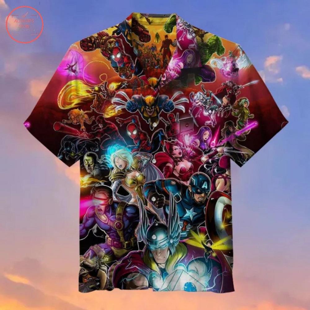 X-men & Avengers Hawaiian Shirt