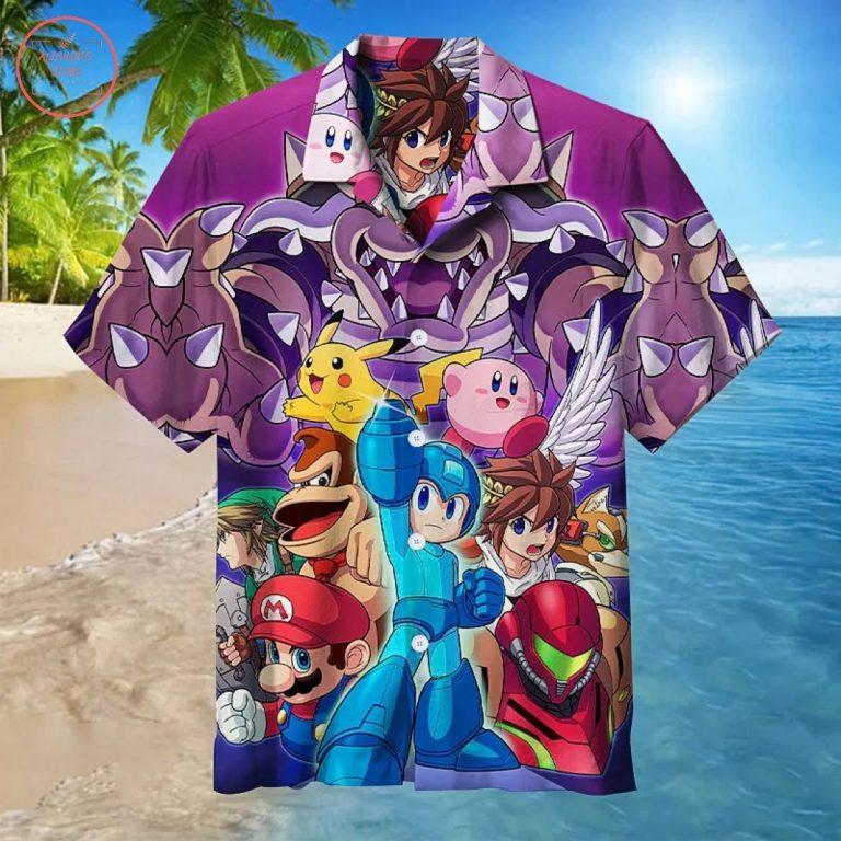Zelda Pokemon & Mario's party Hawaiian Shirt