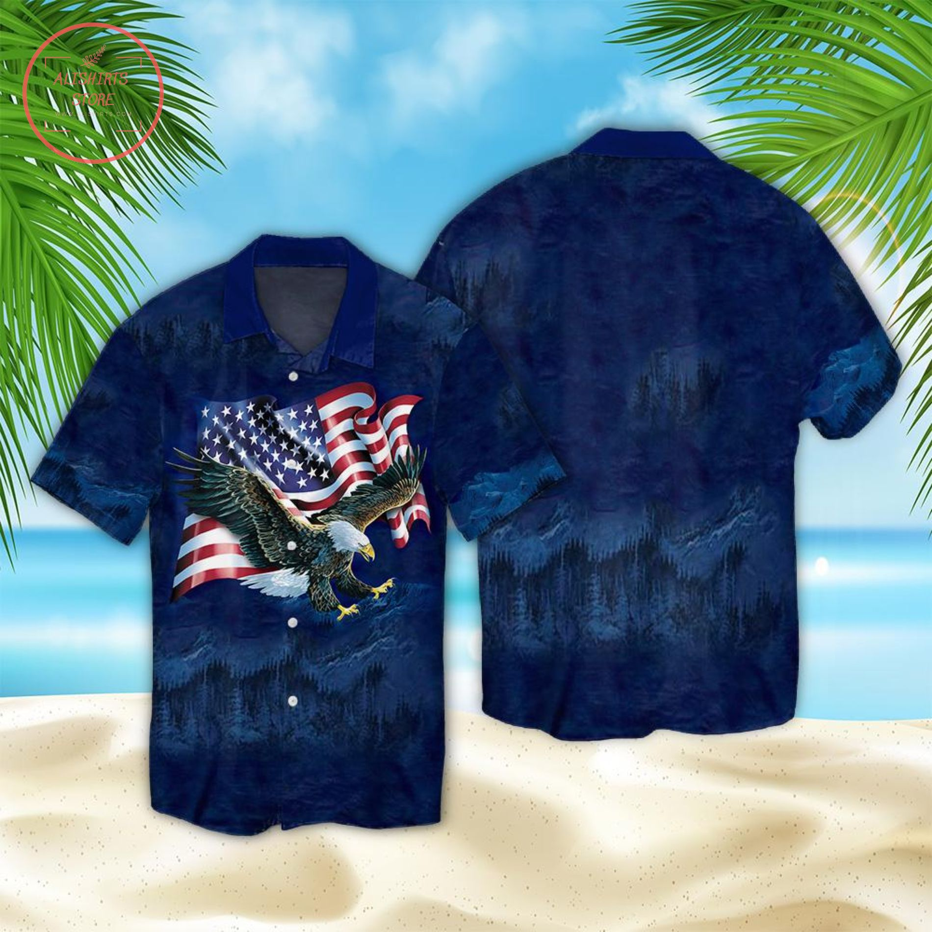 American Eagle Happy independence Day Hawaii Shirt