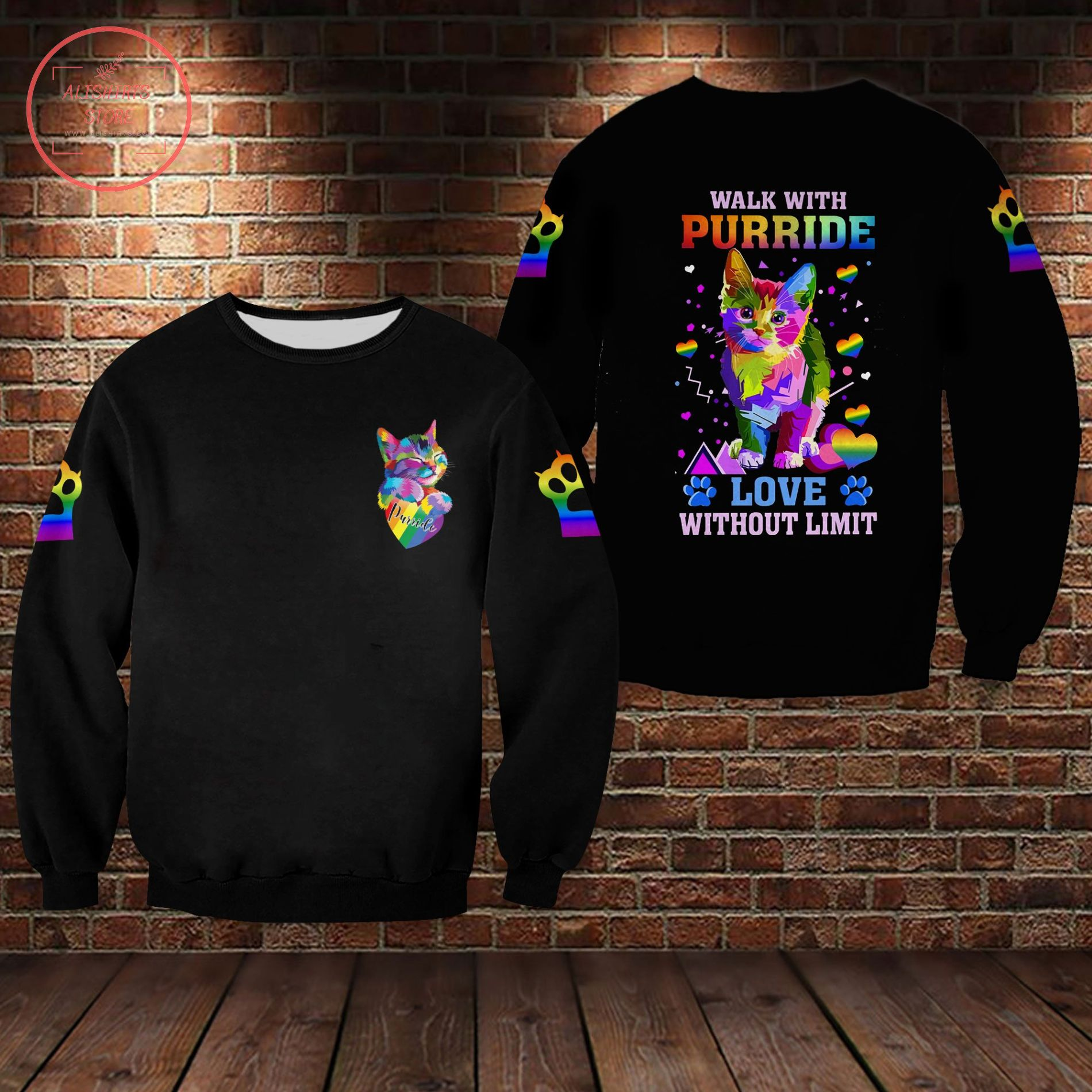 Pride Parade 2021 Lgbt Walk With Purride Love Without Limit 3D All Over Shirts
