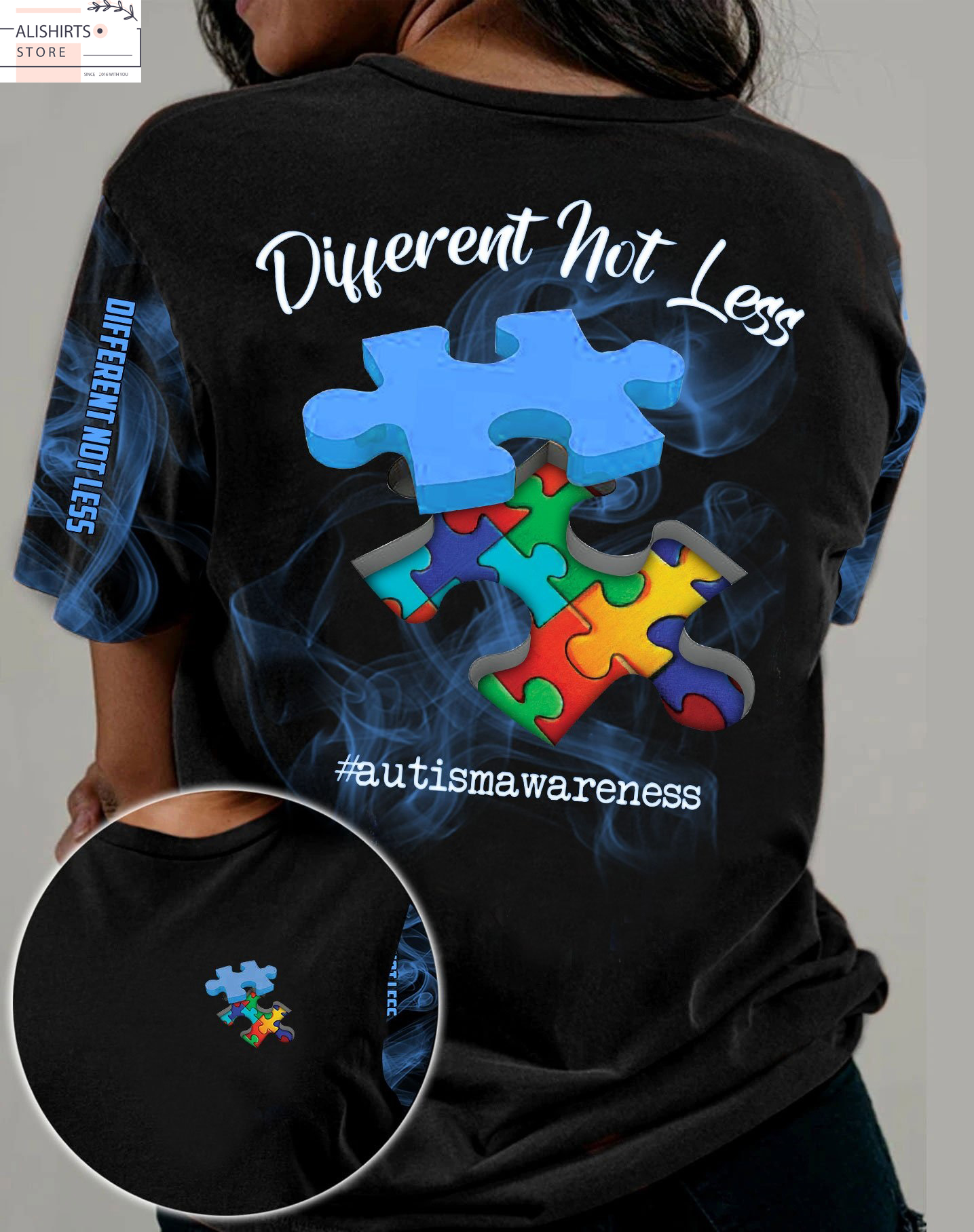 Autism Different Not Less 3D All Over Shirt