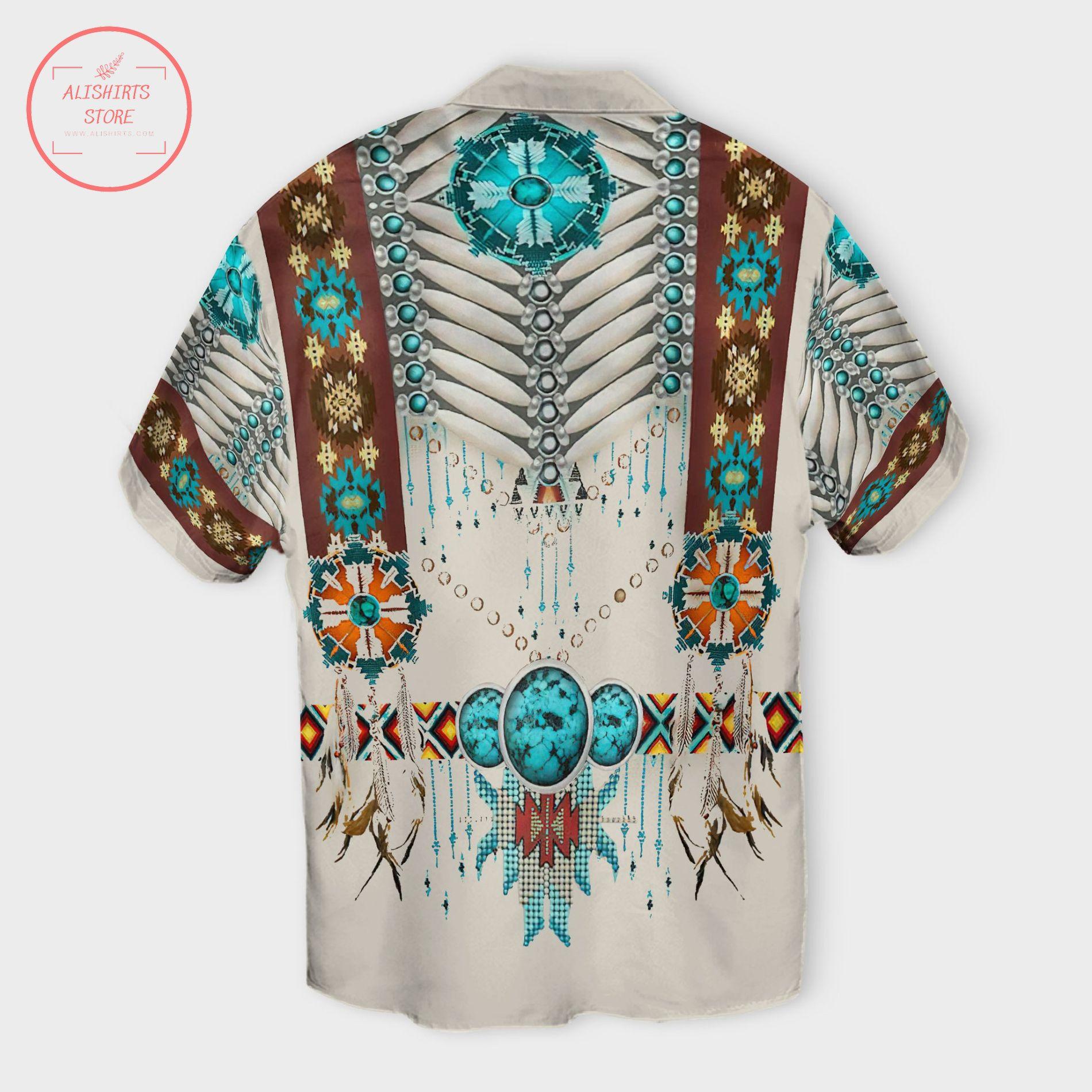 Native American Pattern Hawaii Shirts
