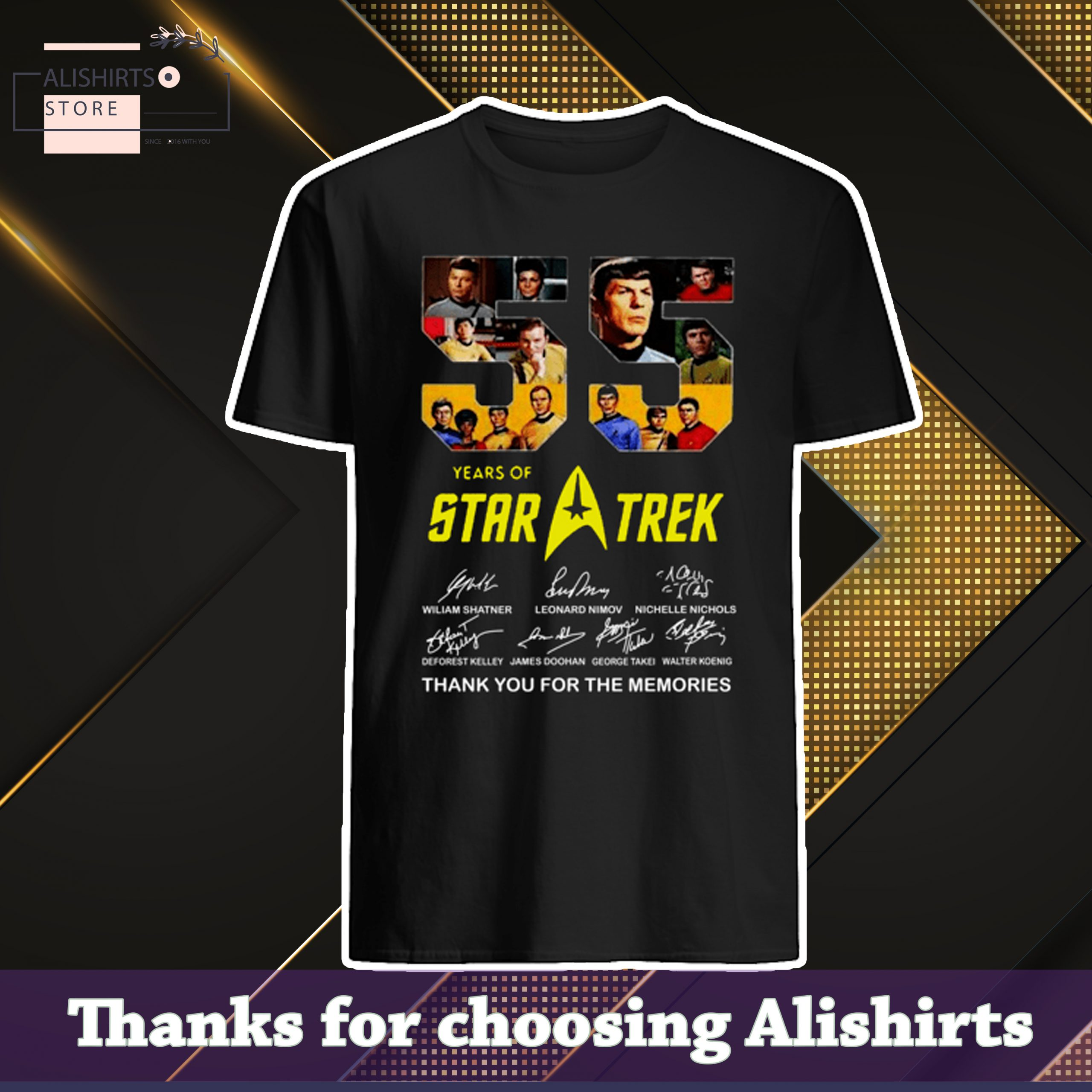 55 Years Of Star Trek Thank You For The Memories Shirt