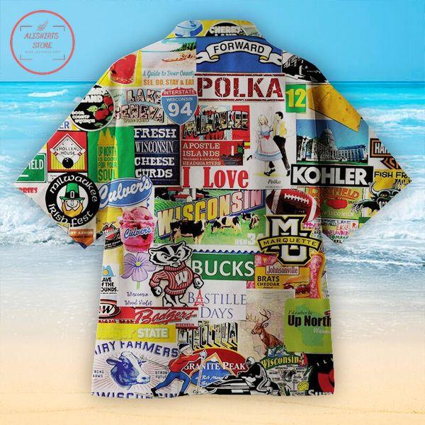 I love Wisconsin Hawaiian shirts