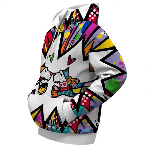 Cute Couple Scotties Love By Britto Pull Over Unisex Hoodie