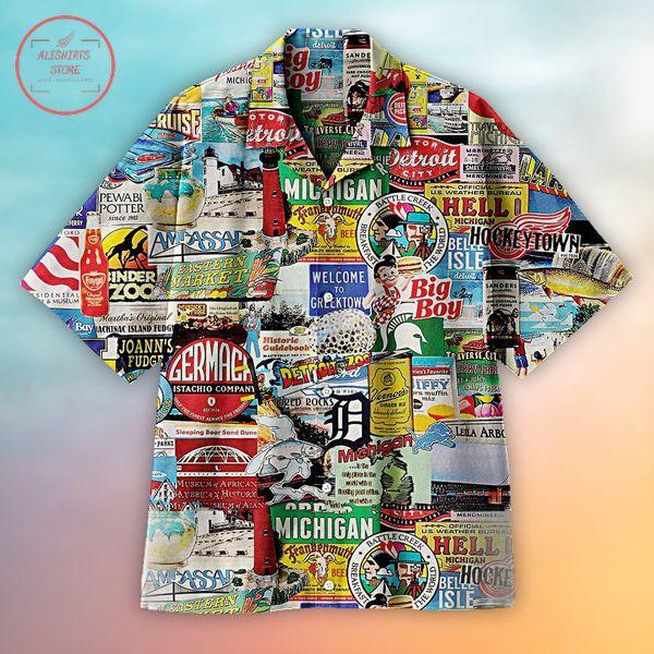 I love Michigan Hawaiian shirts