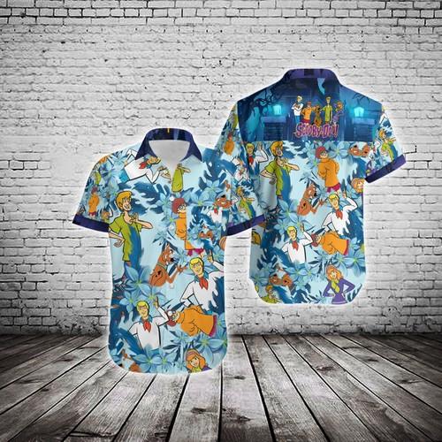 Hawaiian Island Scooby Doo Summer Button Up Shirt