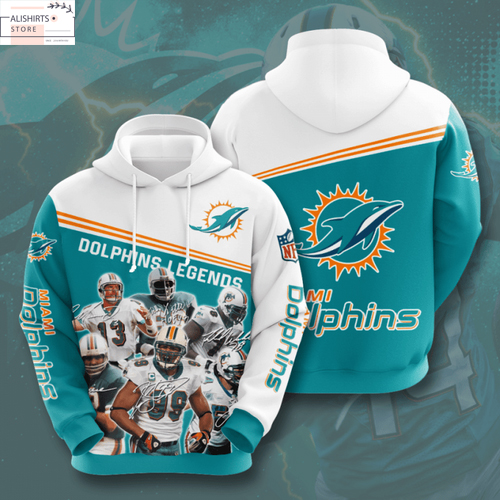 NFL Miami Dolphins 3D Hoodie