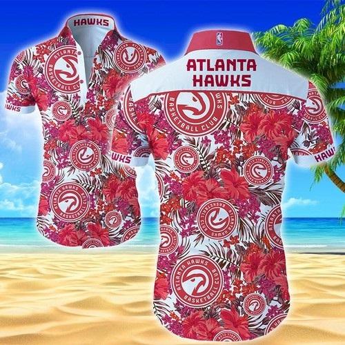 Atlanta Hawks Hawaiian summer men's button shirt