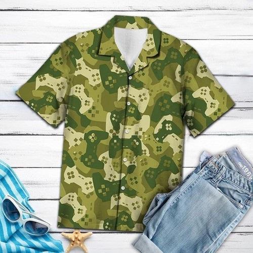 Amazing Camouflage Gaming Joysticks Hawaiian Summer Shirt
