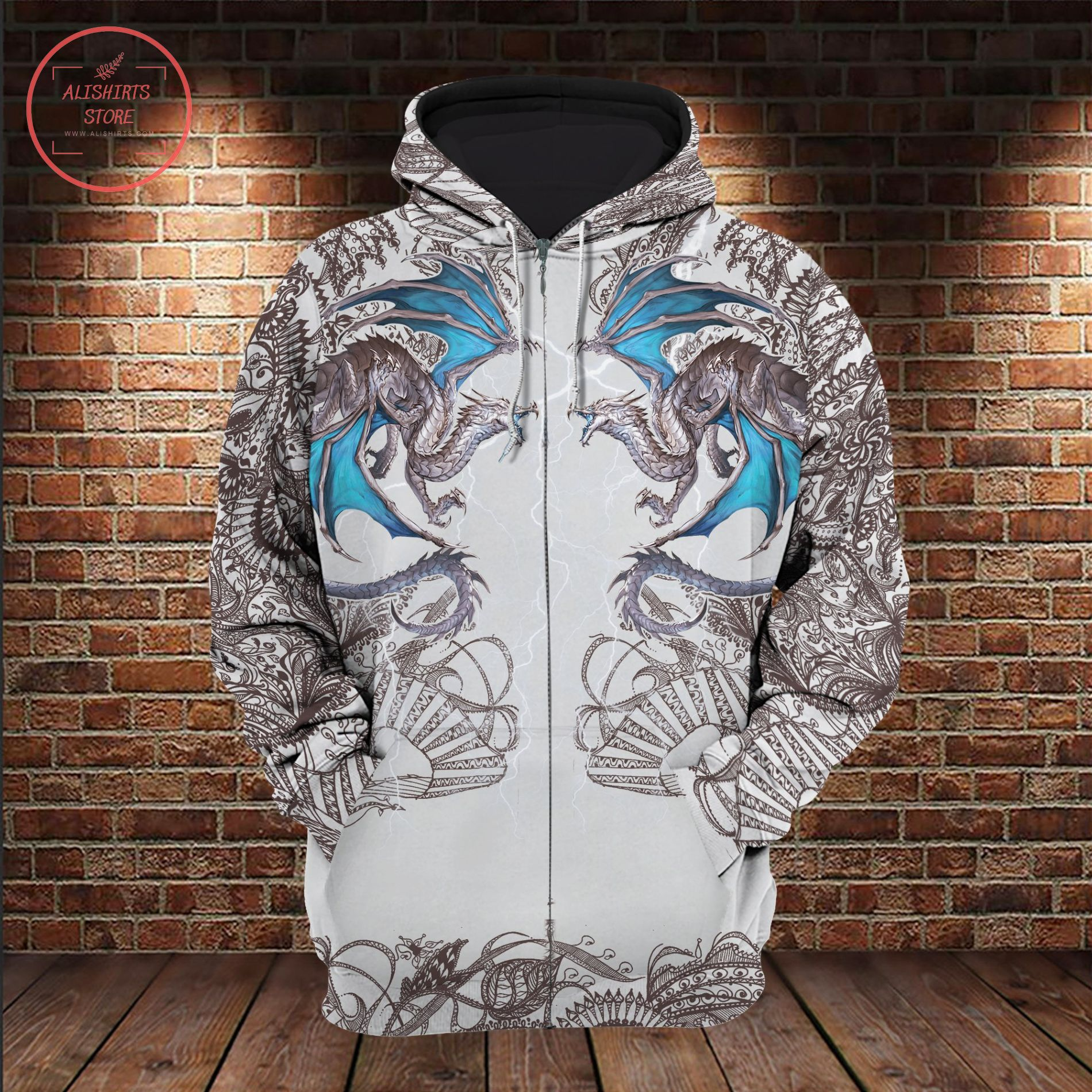 Dragon Tatto Mandala 3D All Over Shirt