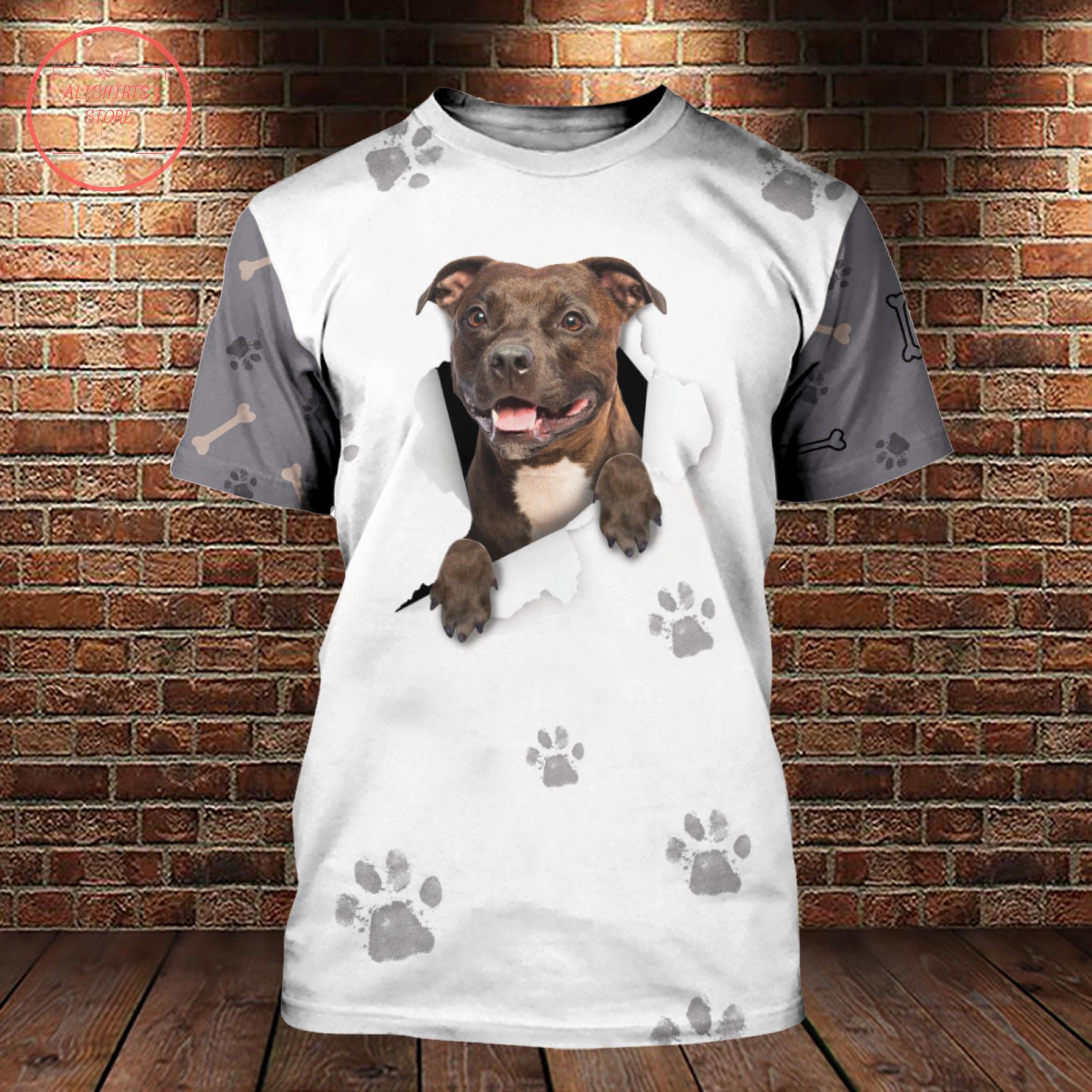 Crack Pitbull 3D All Over Gift For Pitbulls Lovers Shirt