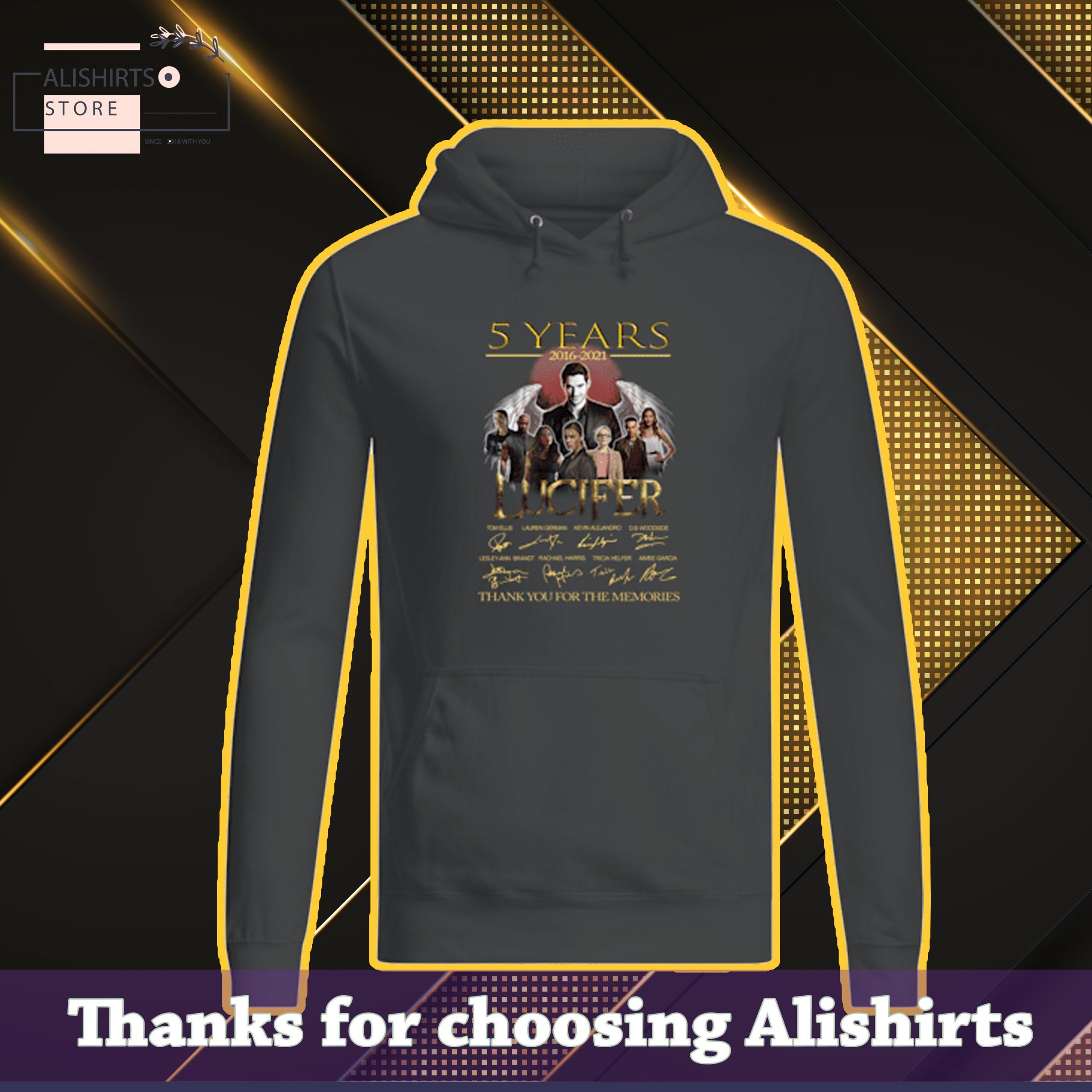 5 years 2016 2021 Lucifer thank you for the memories hoodie