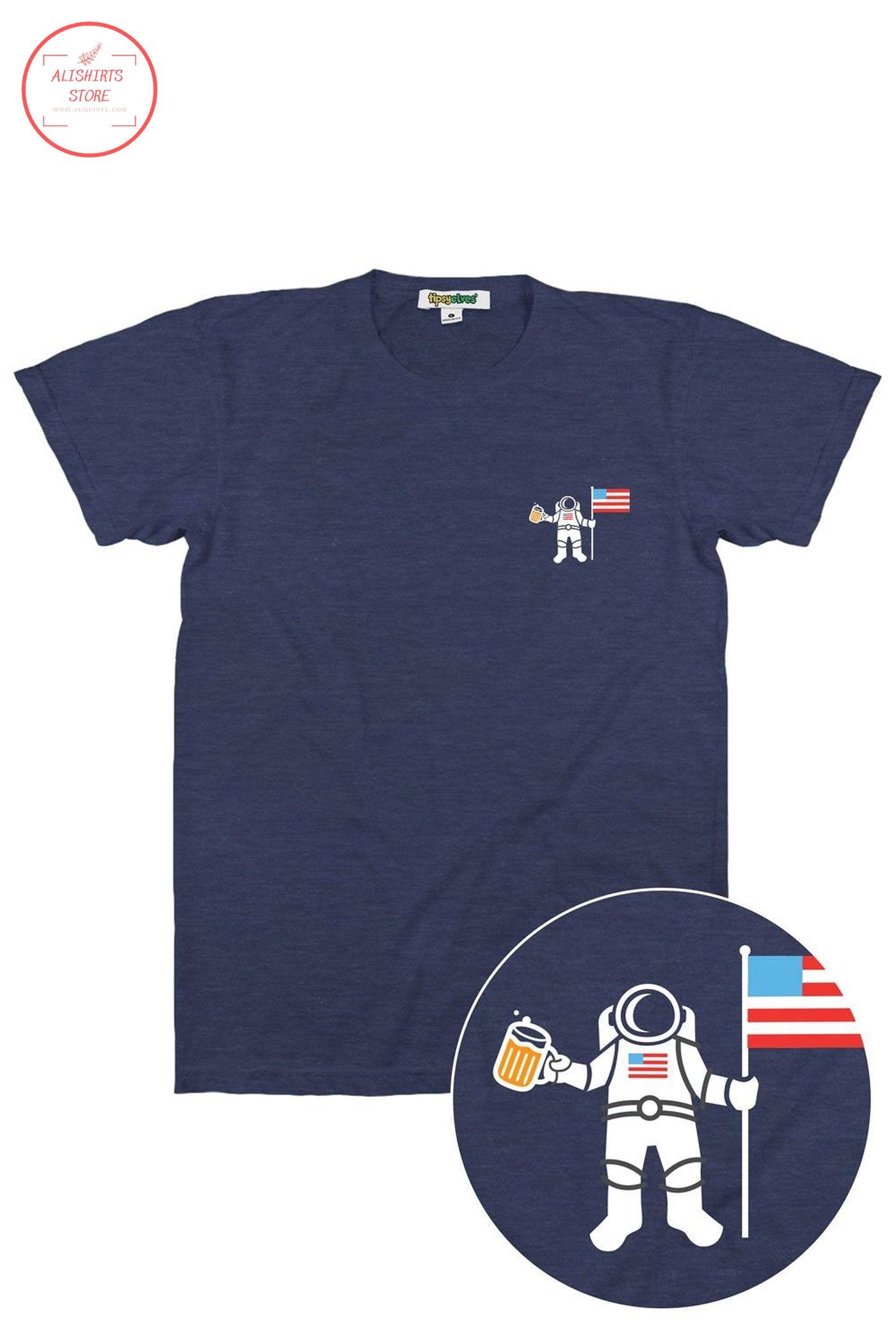 America astronaut funny beer shirt