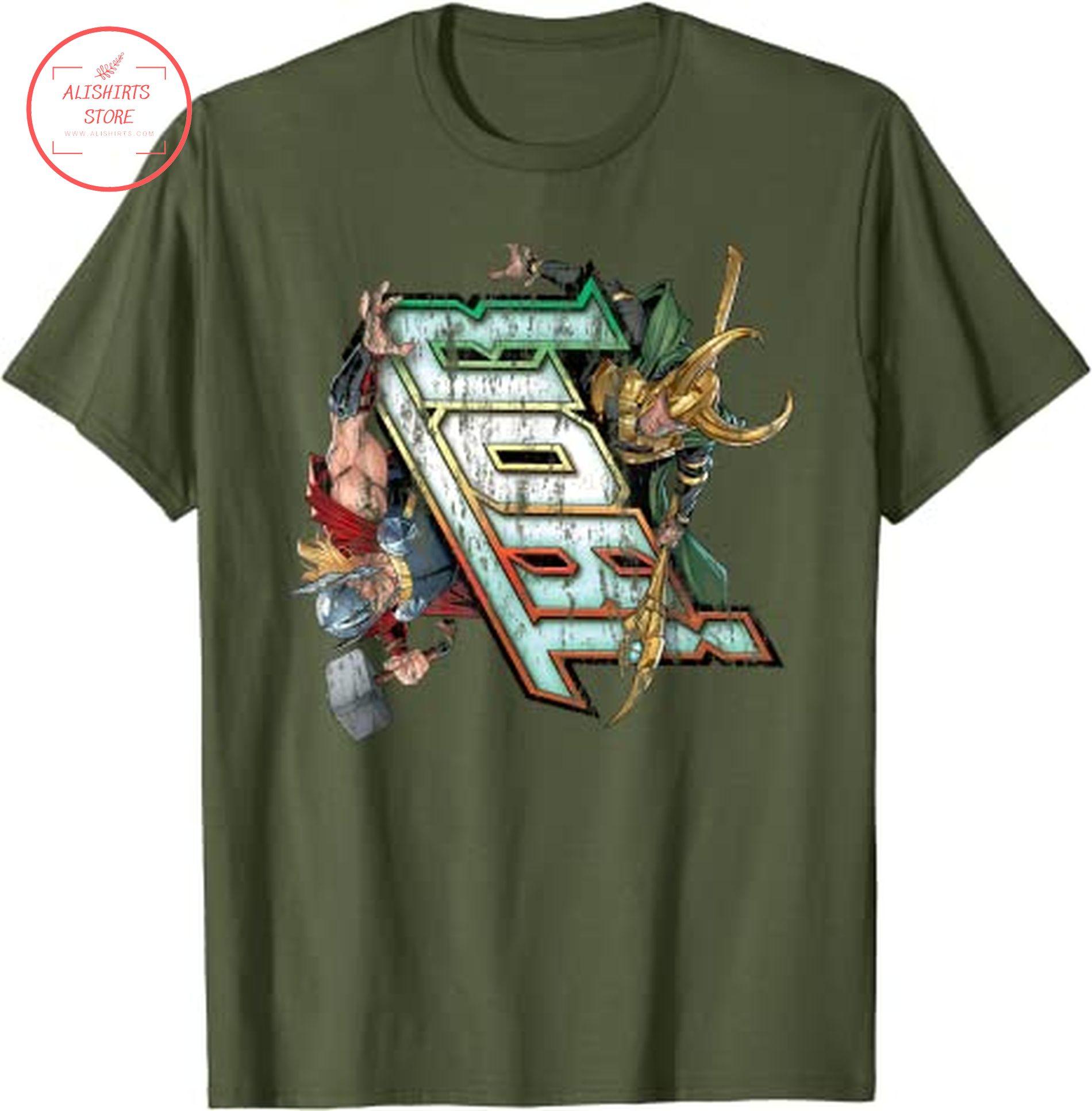 Marvel Thor and Loki T shirt