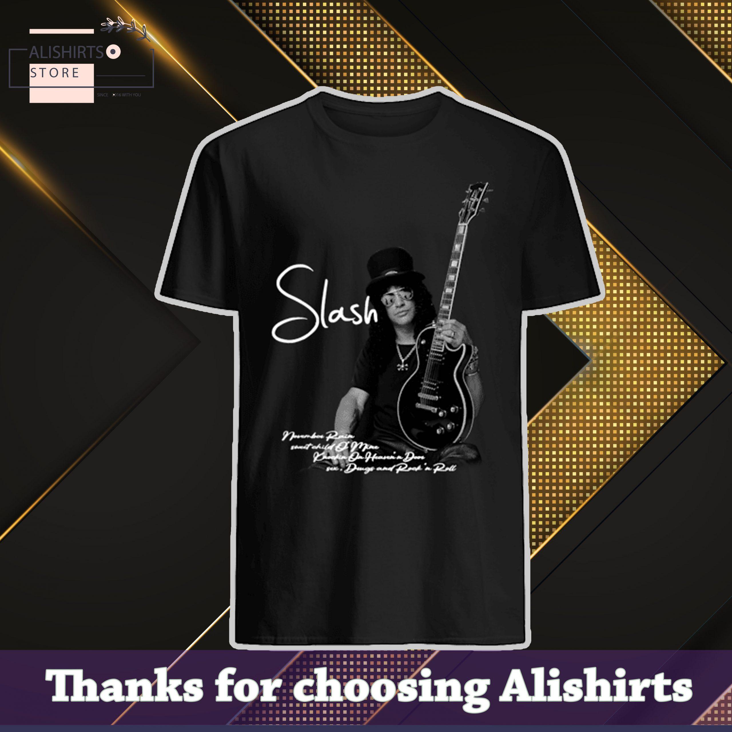 Slash November rain guitar shirt