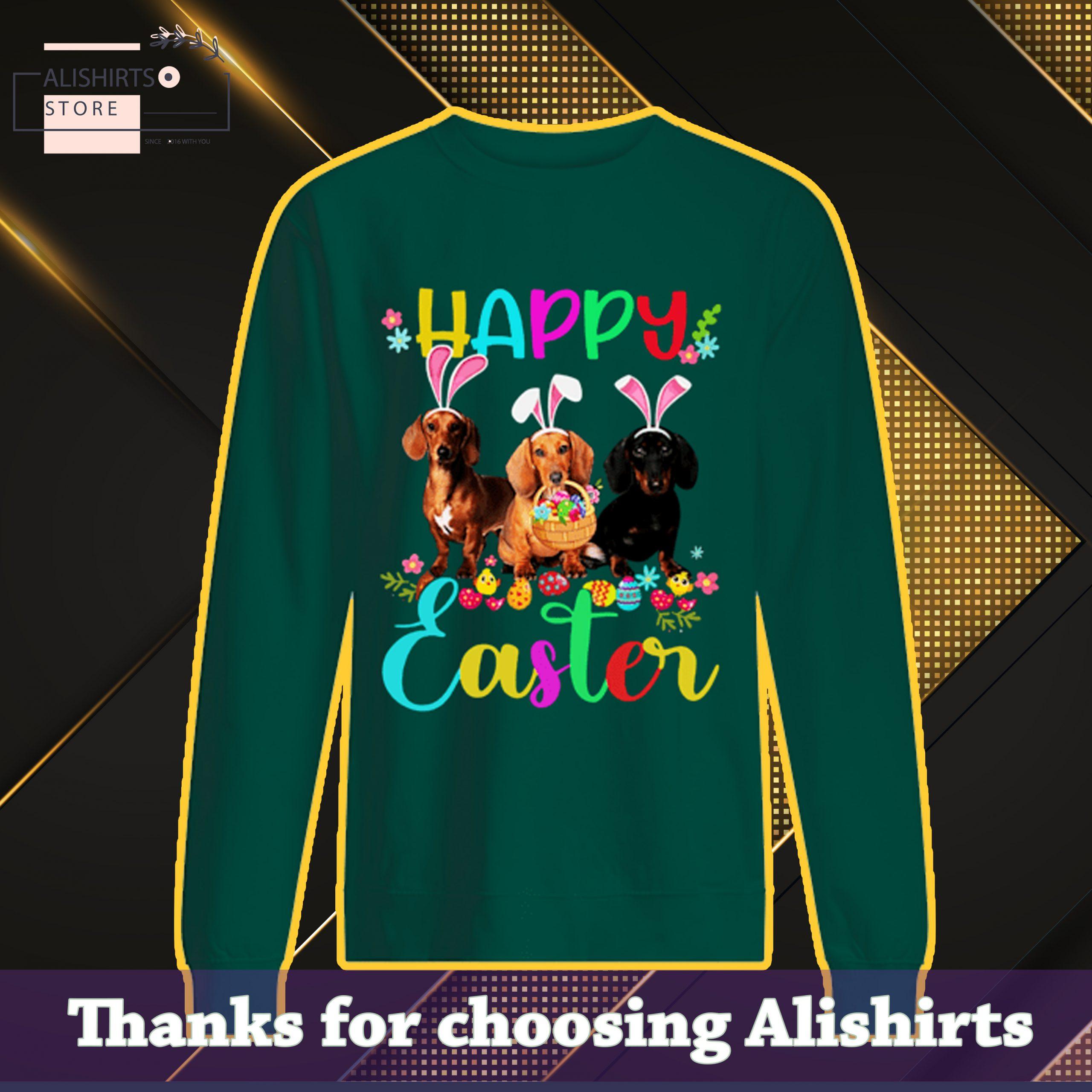 Happy Easter Dachshund Bunny Ear Shirt Classic Shirt