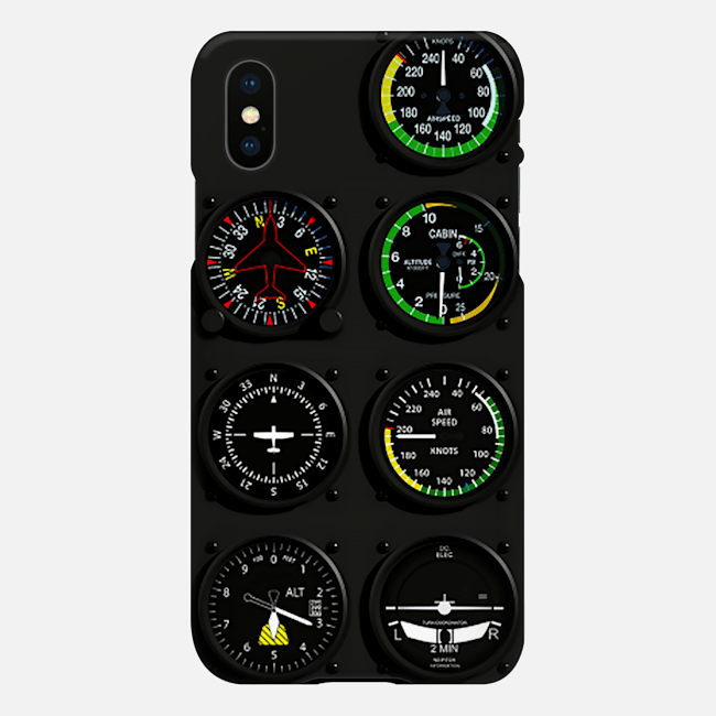 Pilot Six Flight Instruments Phone Case