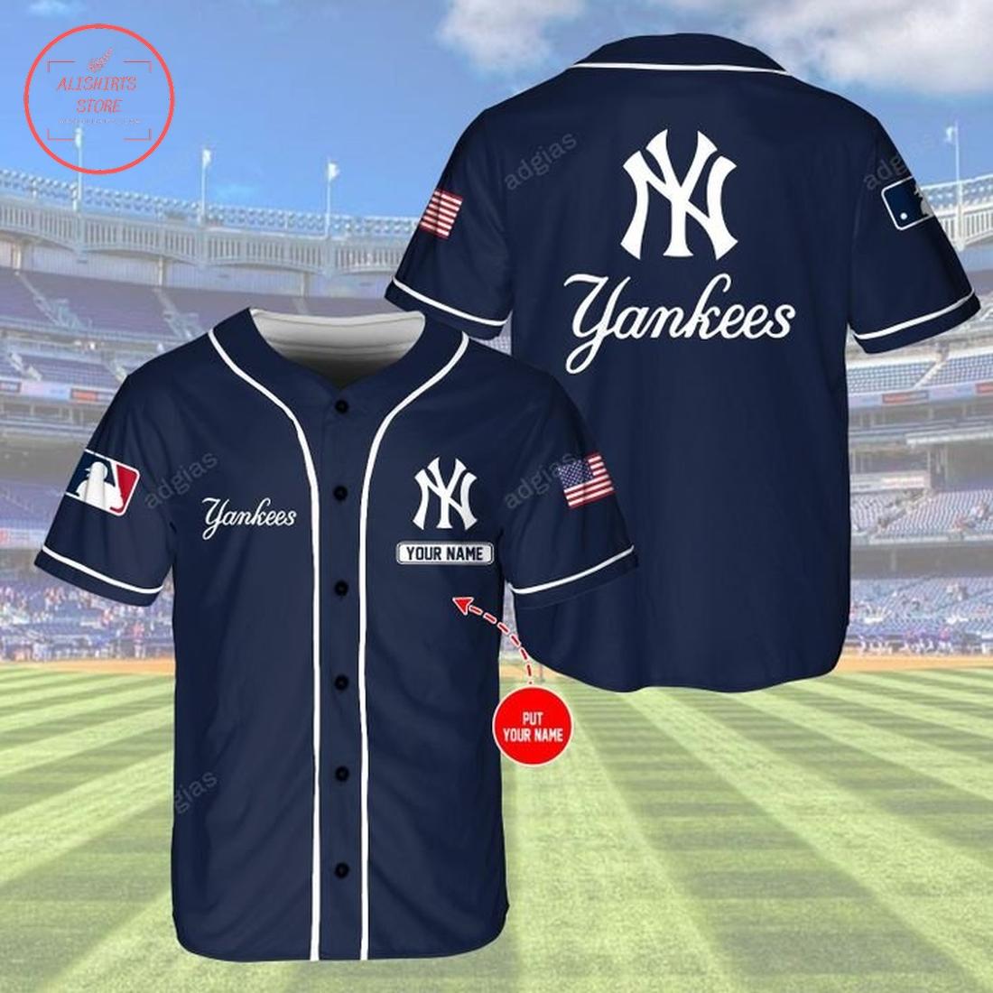 Personalize New York Yankees Navy Baseball Jersey