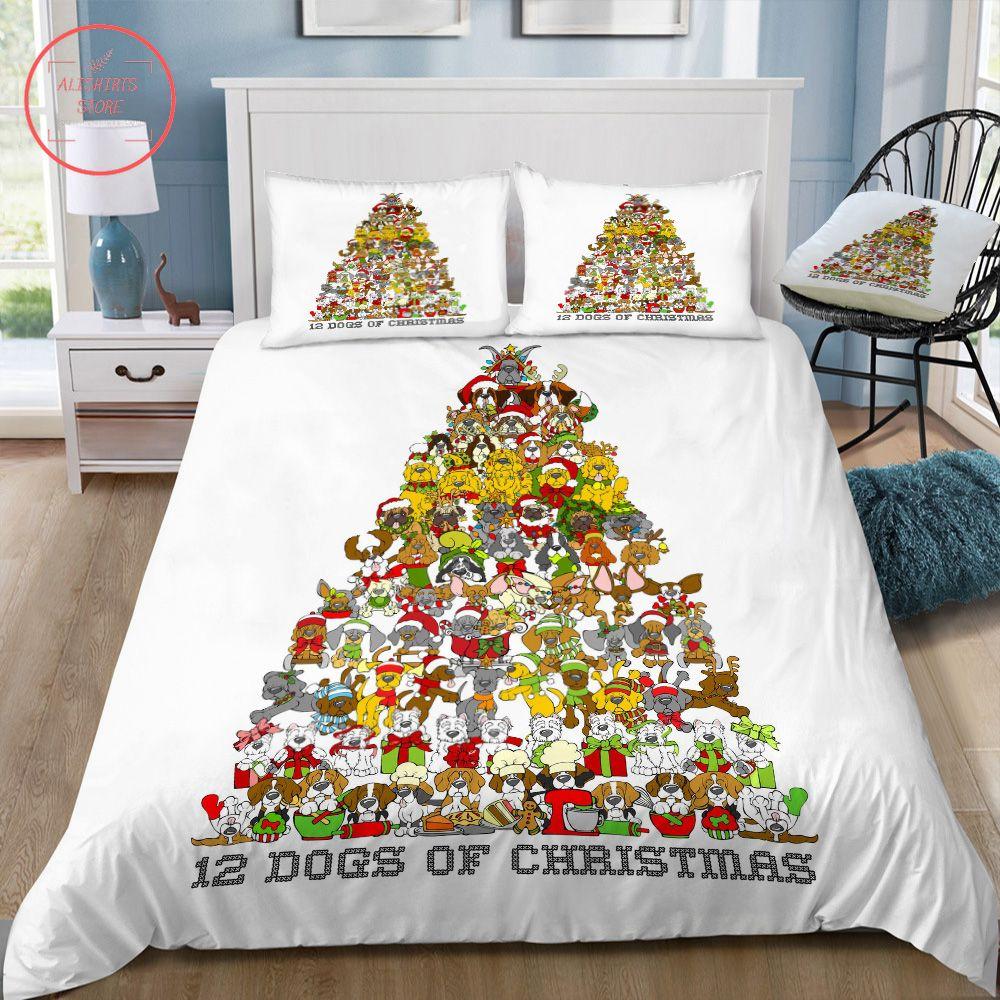12 Dogs Of Christmas Bedding Set