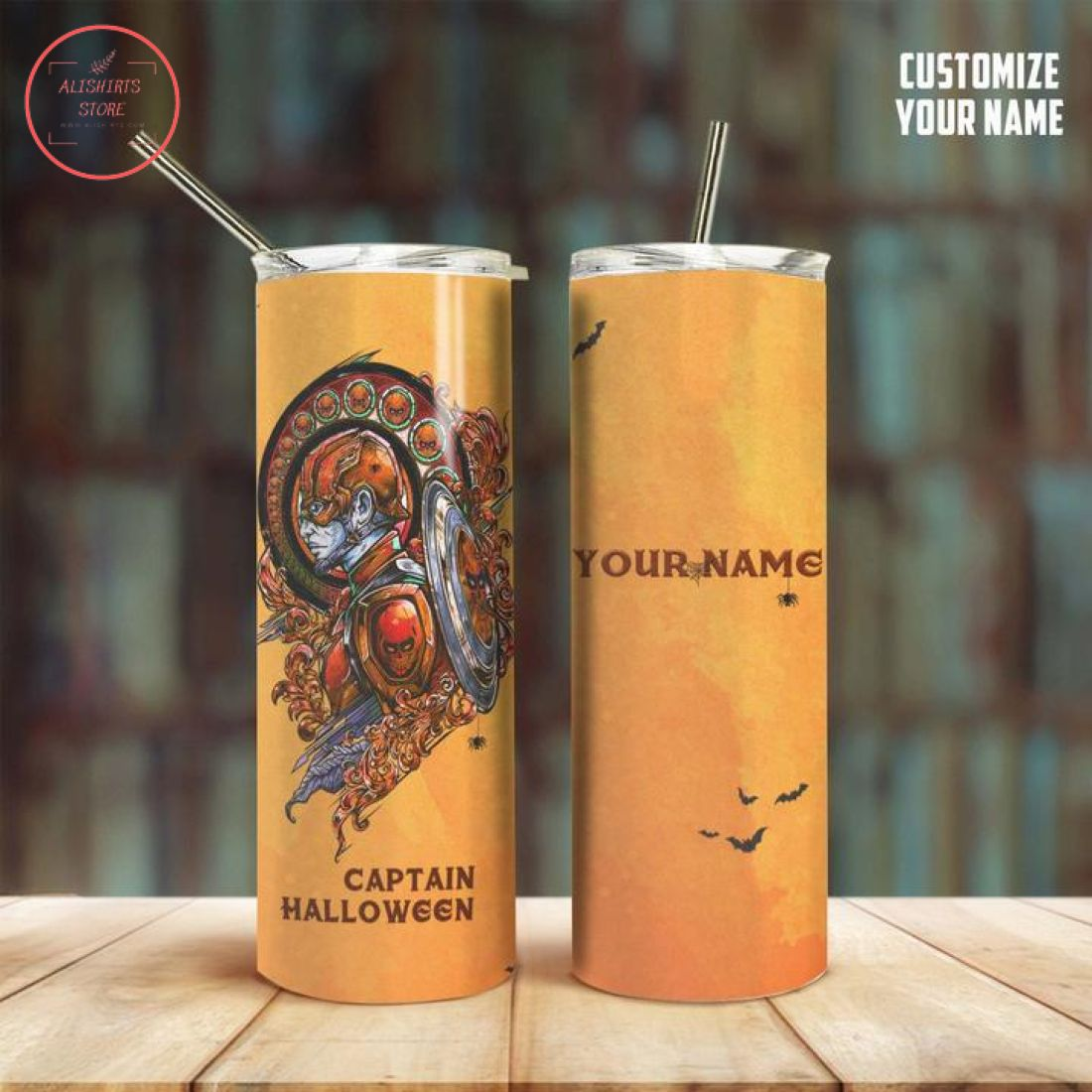 3D Captain Halloween Personalized Stainless Steel Tumbler