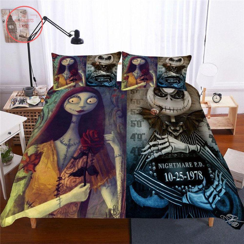 3D Halloween Before Christmas Jack & Sally Blanket
