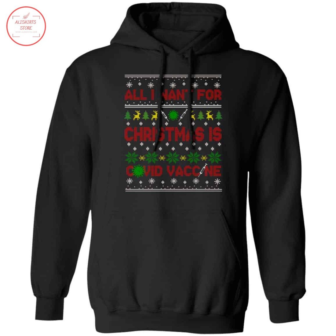 All I Want For Christmas Is Covid Vaccine Shirt