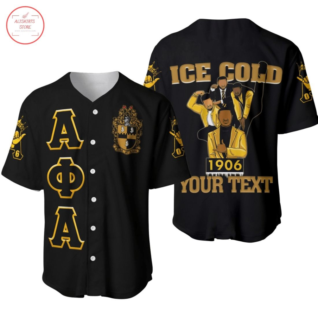 Alpha Phi Alpha 1906 Ice Cold Brotherhood Baseball Jersey