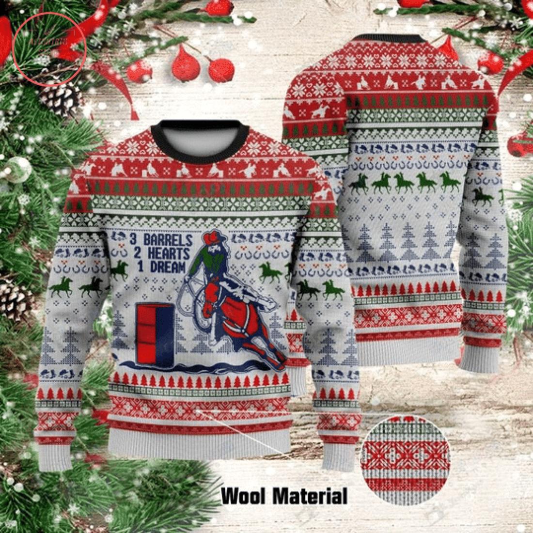 Barrel Racing Christmas Sweater