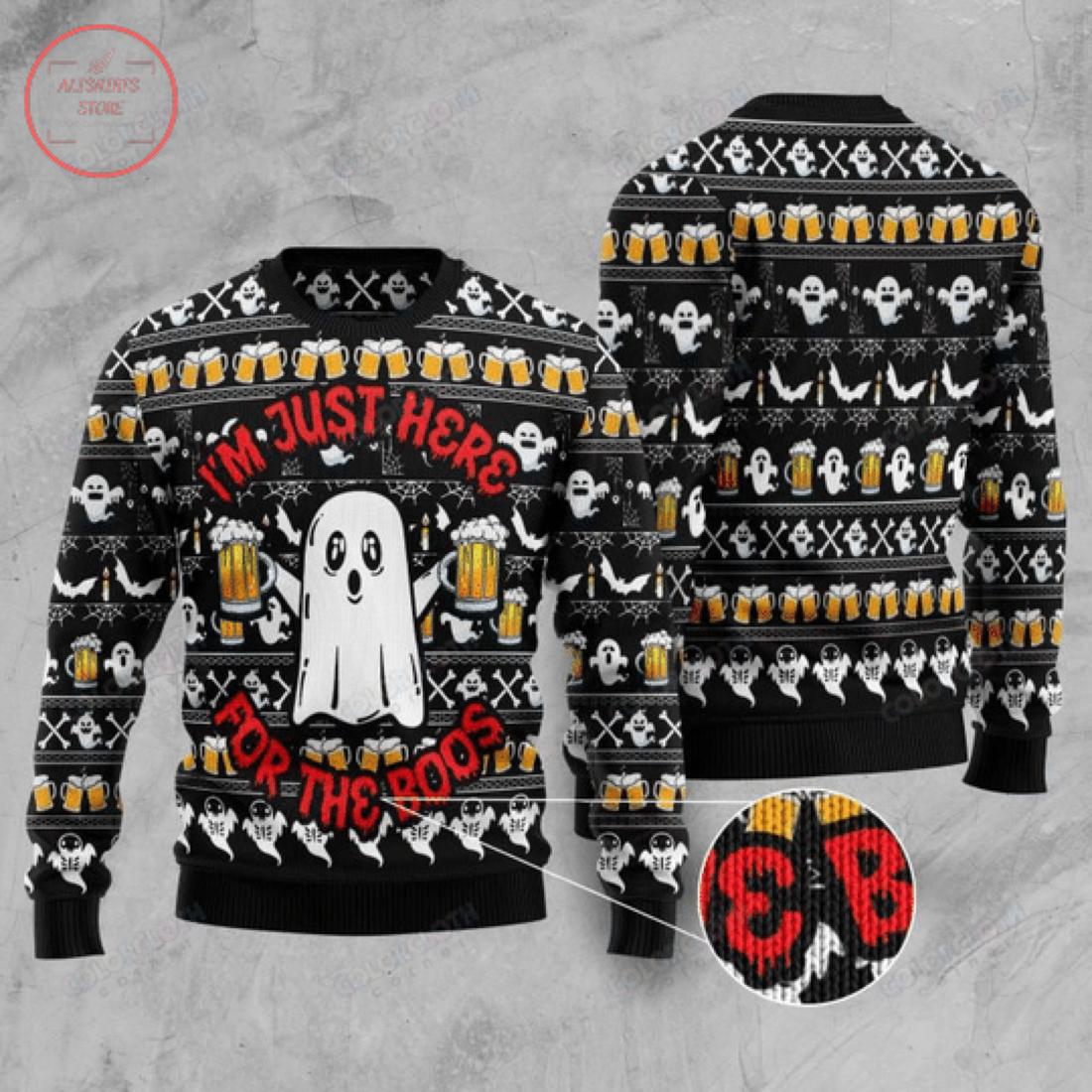 Boo Beer Halloween Sweater