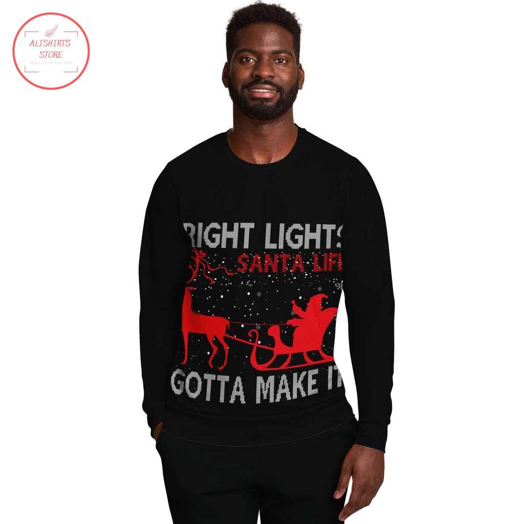 Bright Lights Santa Christmas ugly Sweater