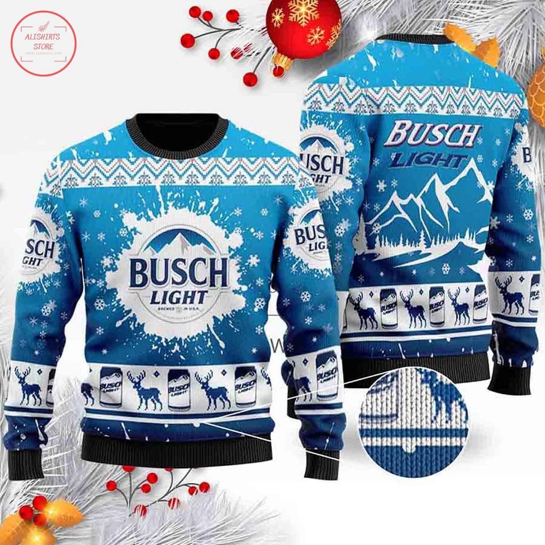 Busch Light Ugly Christmas Unisex 3D Sweater