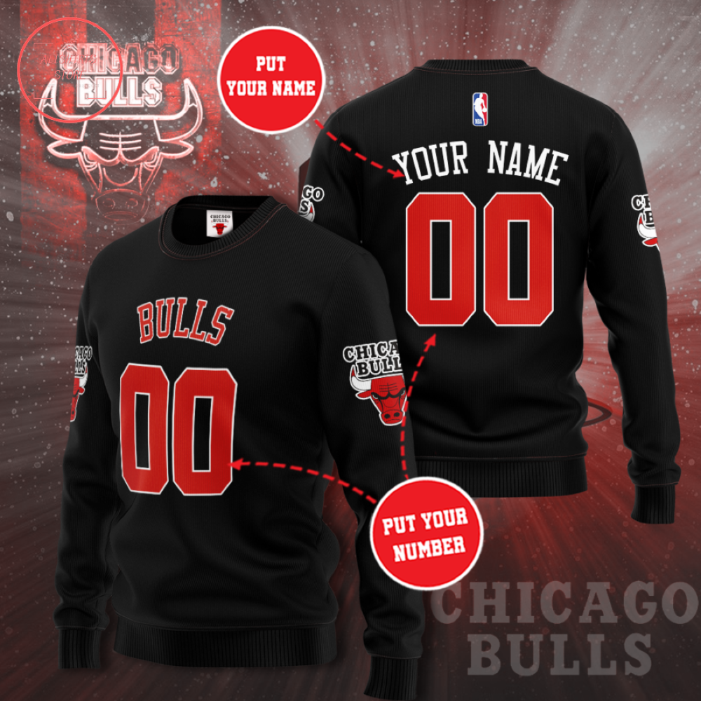 Chicago Bulls Personalized Sweater