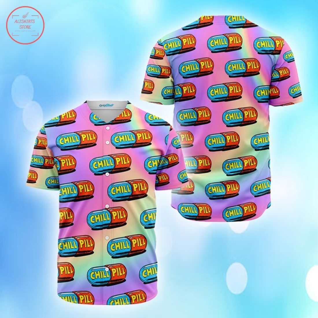 Chill Pills Colorful Baseball Jersey
