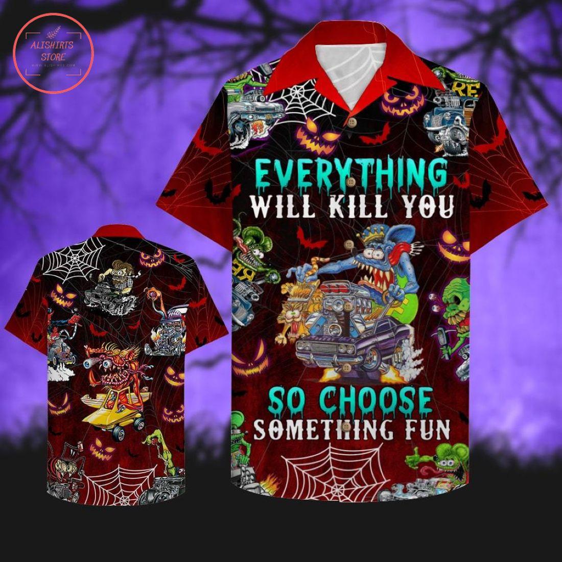 Choose Something Fun Halloween Hawaiian Shirt