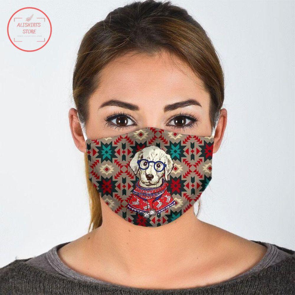 Christmas Cute Dog Face Mask