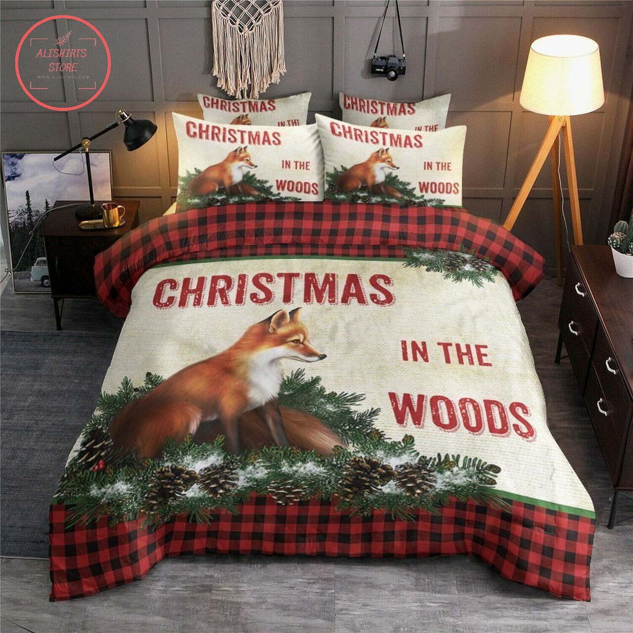 Christmas In The Wood Bedding Set