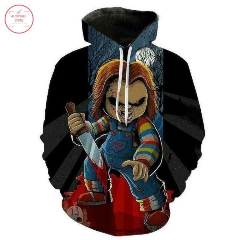 Chucky horror Halloween All Over Printed Hoodie