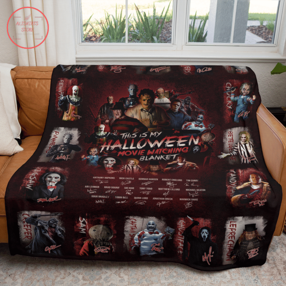 Classic Horror Movies Characters Halloween Blanket