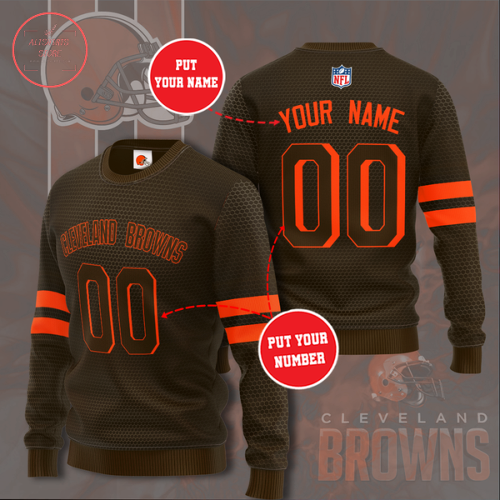 Cleveland Browns Personalized Sweater