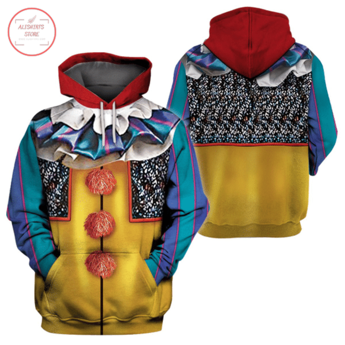 Clown Classic Pennywise Halloween Hoodie 3D